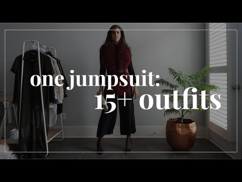 One Jumpsuit: 15+ Outfit Ideas! | How To Style Wardrobe Essentials | Capsule Closet
