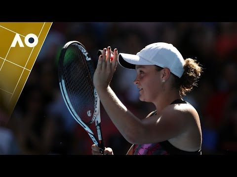 Ashleigh Barty on court interview (1R) | Australian Open 2017