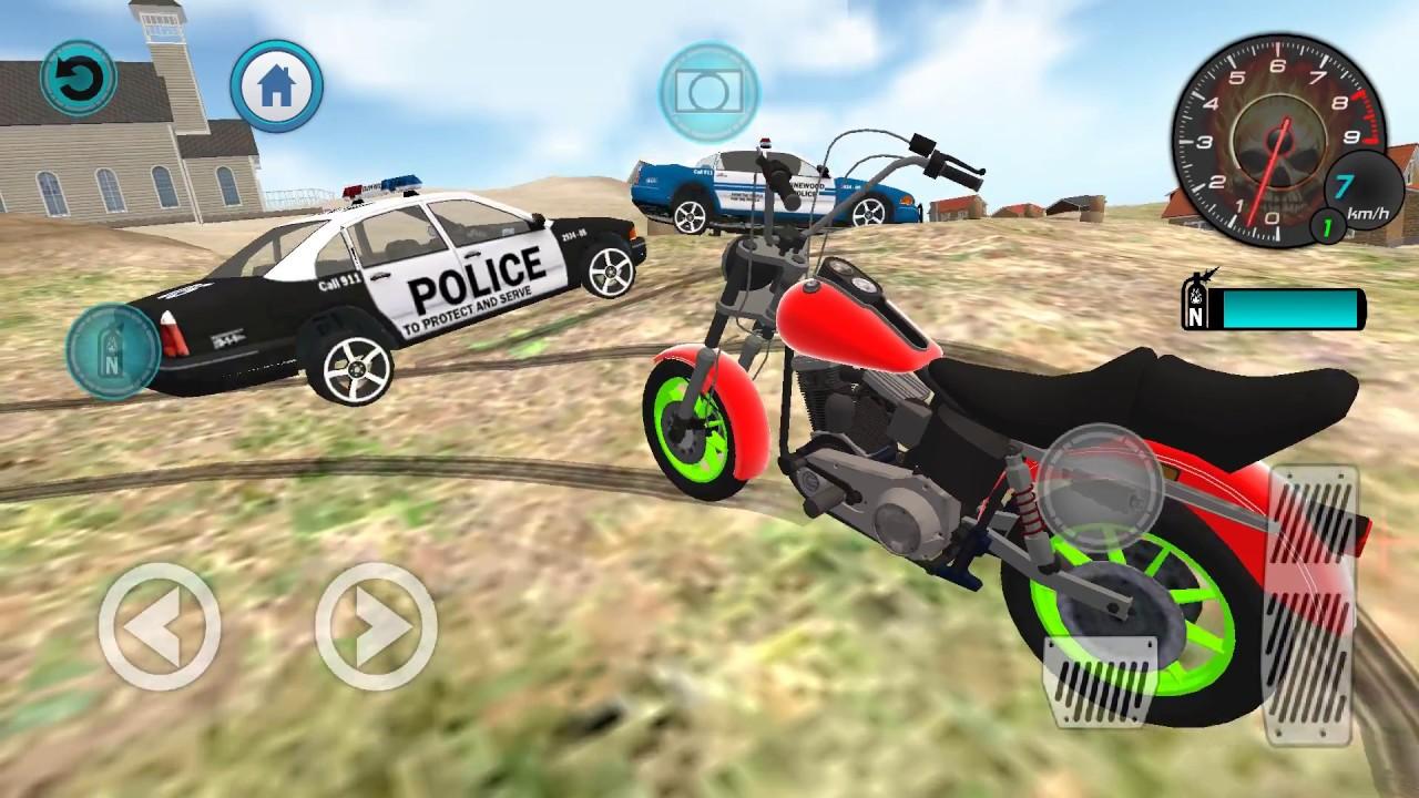 Bike Racing Games Real Moto Bike Cop Car Chase