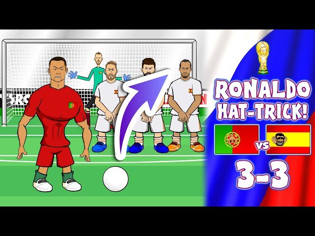 💥RONALDO HAT-TRICK!💥 3-3! Portugal vs Spain (World Cup 2018 Goals Highlights Parody)