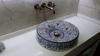 土耳其陶藝大師「愛因斯坦」廁所的洗手台