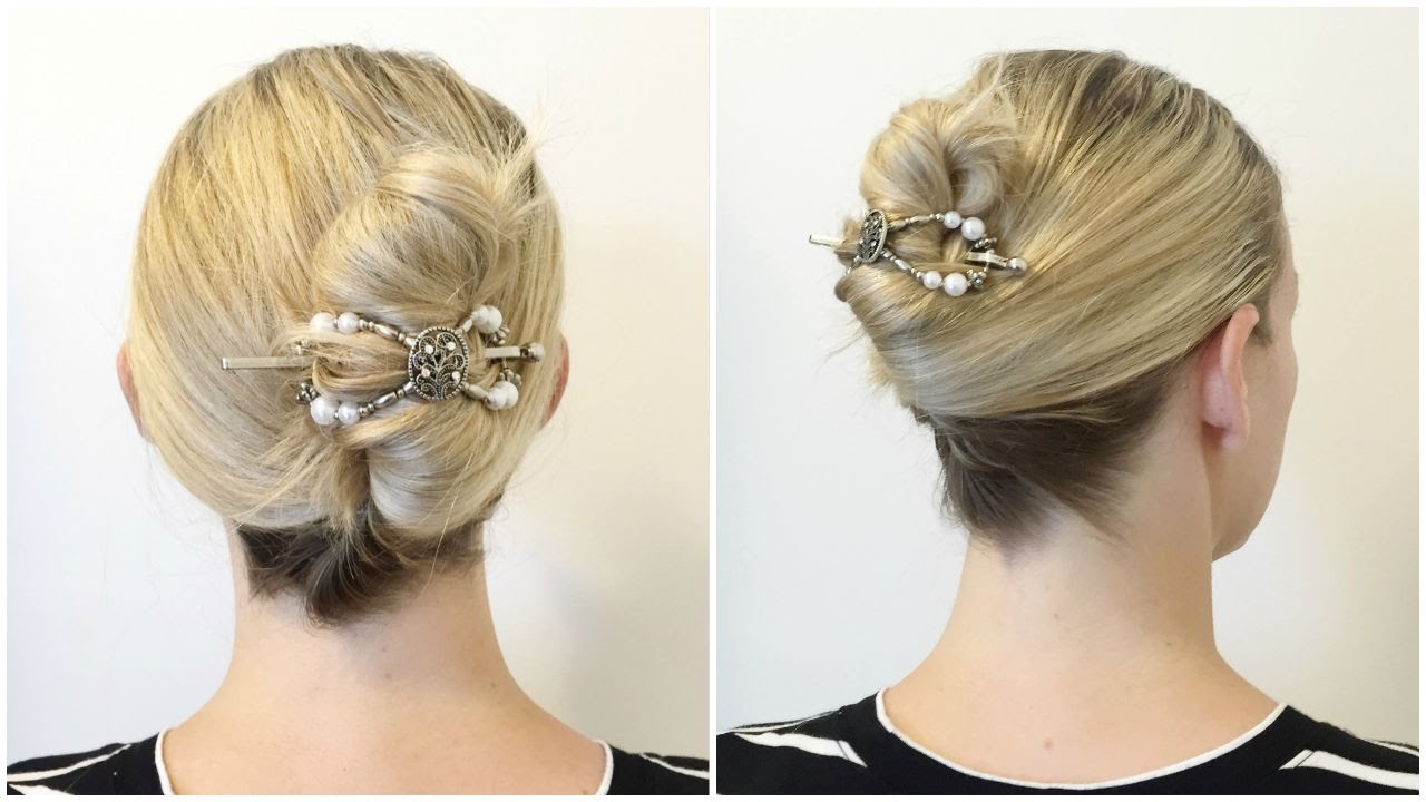 The Easiest French Twist Ever Quick And Easy Diy Hairstyle Tutorial