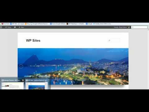How to make a slideshow header in wordpress