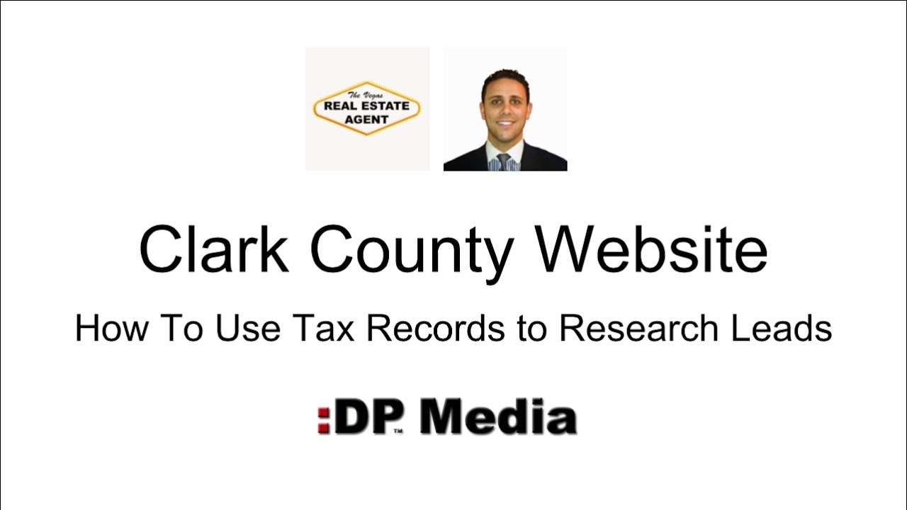 How To Use Tax Records to Research Leads | Clark County Website