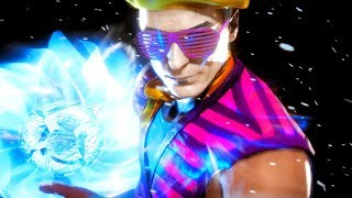Mortal Kombat 11 Johnny Cage Performs All Victory Celebrations Outro 1 Funny Face Mime Skin, Outfit