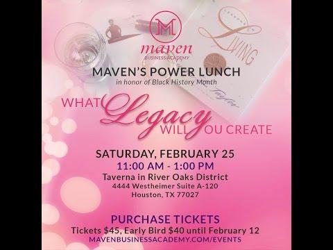 Maven Business Academy - Thank you - Feb Maven's Power Lunch