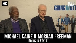 Morgan Freeman & Michael Caine Exclusive Interview - Going in Style