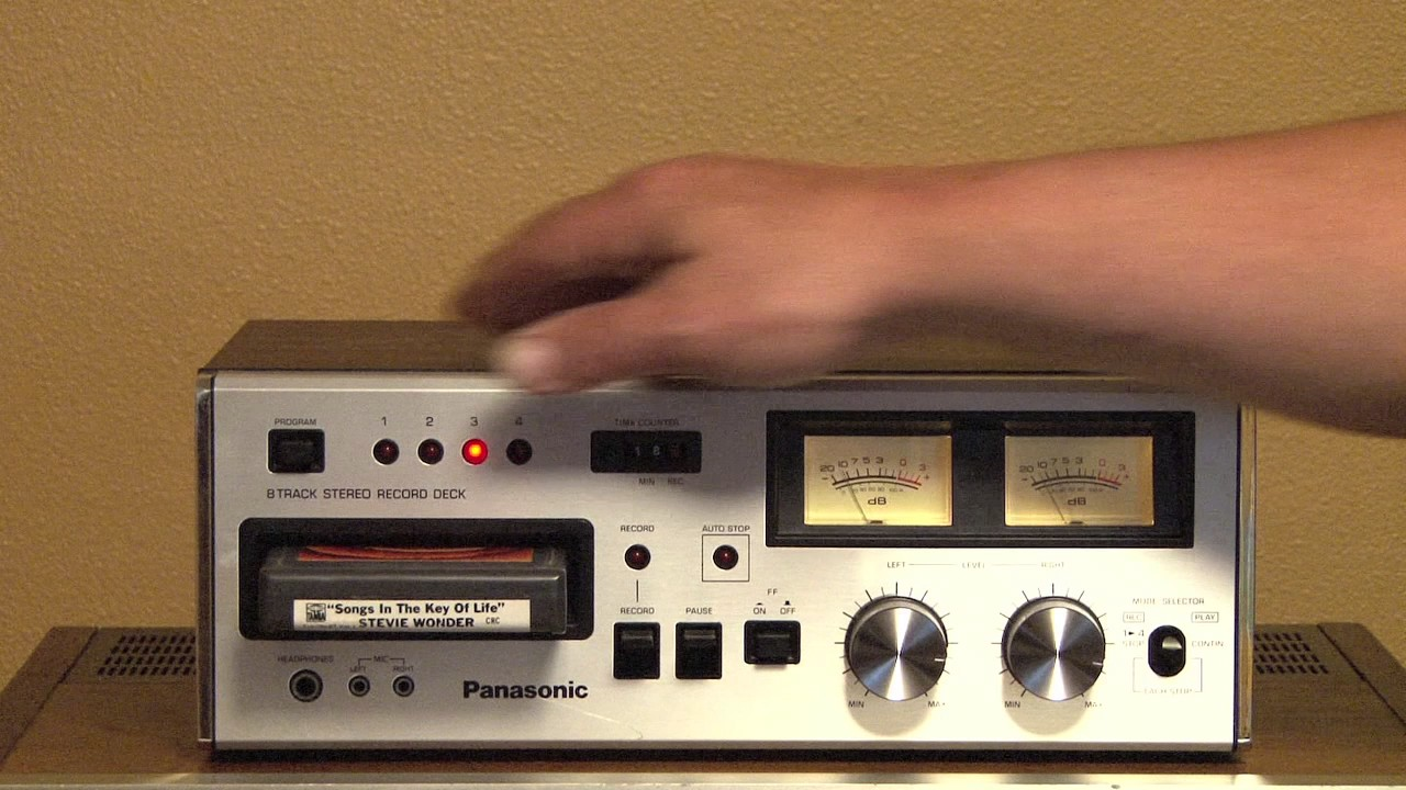 panasonic rs 808 8 track stereo tape deck for sale on ebay 5 17 17 youtube. Black Bedroom Furniture Sets. Home Design Ideas