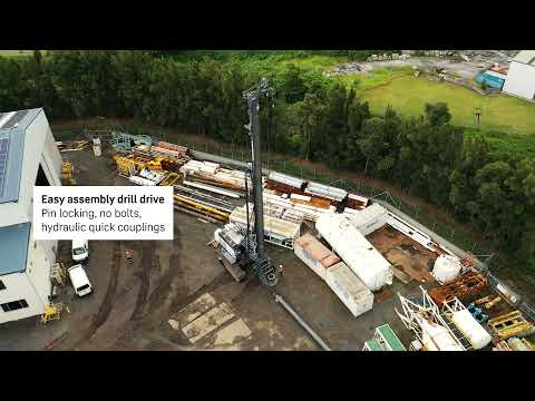 Liebherr  LB 45 rotary drilling rig: first assembly in Australia