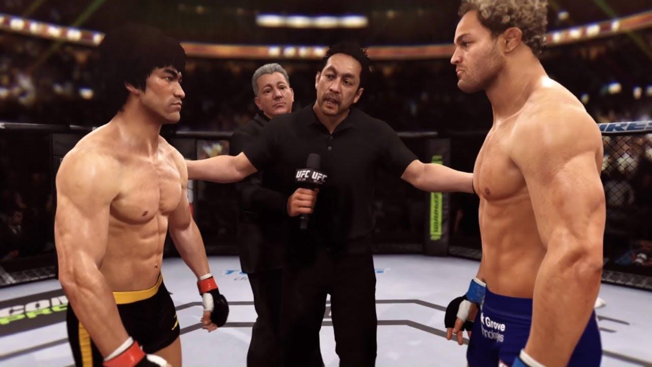 Bruce Lee vs. Josh Kosheck (EA Sports UFC) - CPU vs. CPU