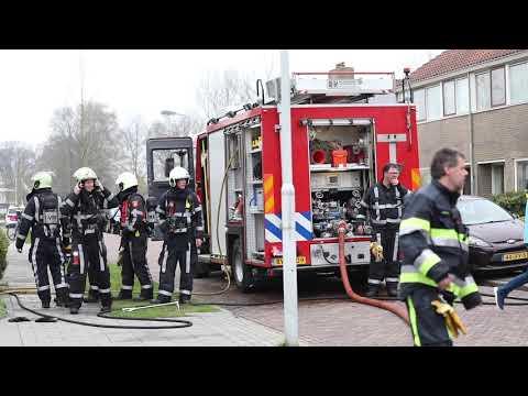 Forse brand in woning Prinses Irenestraat Joure