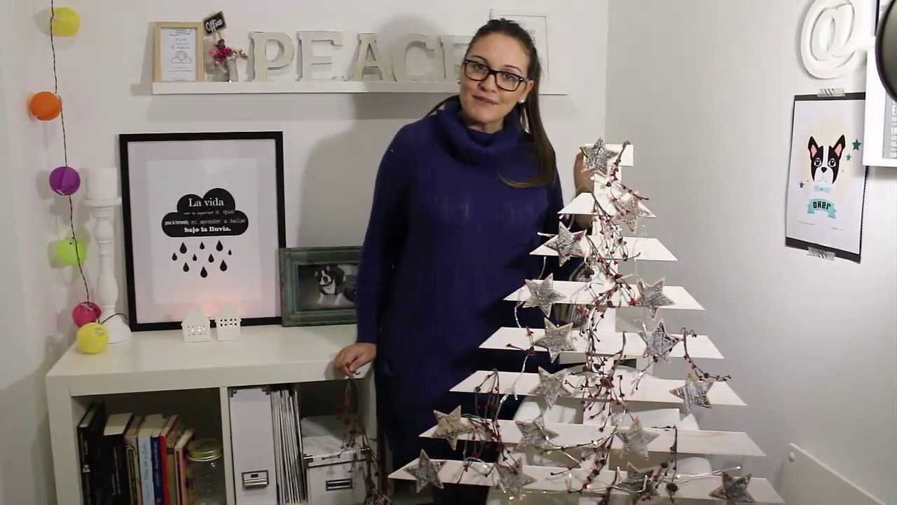 bohodecochic diy rbol de navidad de madera tree wood christmas diy youtube