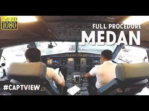 (FULL PROCEDURE) Airbus A320 Jakarta to Medan- by Vincent Raditya ( BATIK AIR )