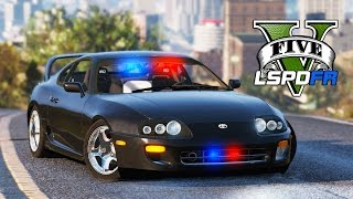 GTA 5 - LSPDFR Ep43 - Undercover Supra And Street Racers!!