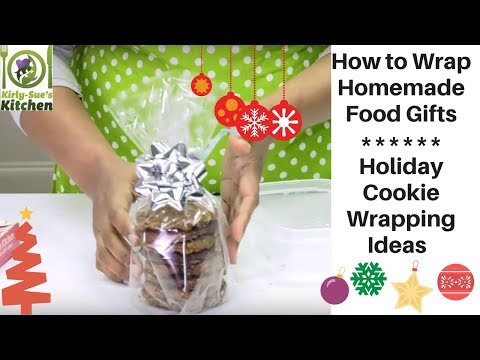 How to Wrap Homemade Food Gifts l Holiday Cookie Wrapping Ideas