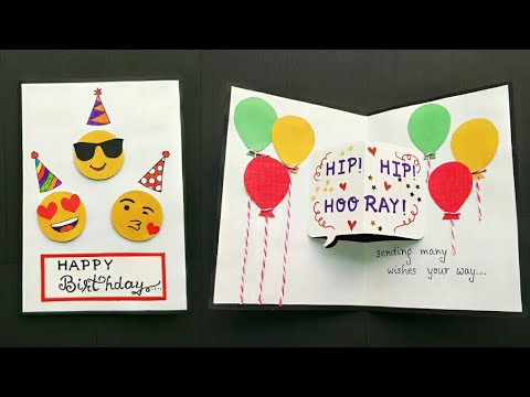 Handmade Birthday Card Pop Up Greeting Ideas Cute Making