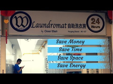 Laundromat at 246 Hougang Street 22 - Open 24 Hours