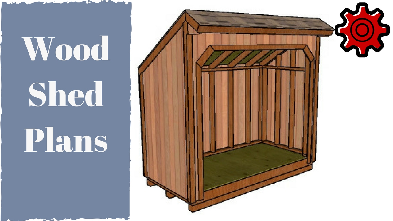 4x8 Firewood Shed Plans Youtube