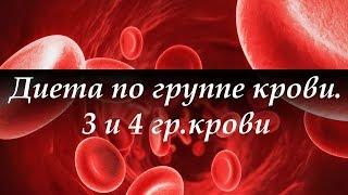 Диета по группе крови  Часть 2  Питание для 3 и 4 группы крови  Галина Гроссманн