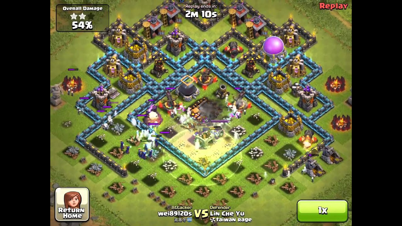 Clash of Clans my defense lost 98% from 20 Witch ...