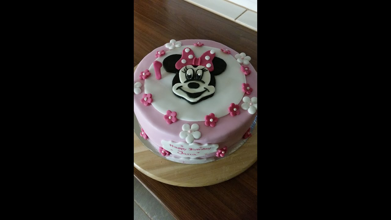 minnie mouse torte fondant fondant minnie mouse cake youtube