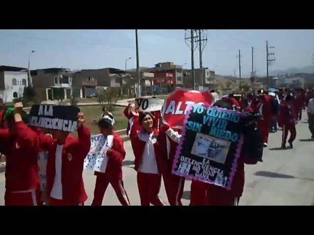IE  7213 PERUANO JAPONS  marcha por la seguridad ciudadana