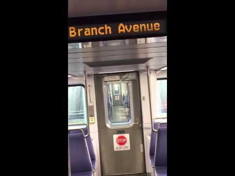 Washington, DC metro rail. New subway cars (7000 series)