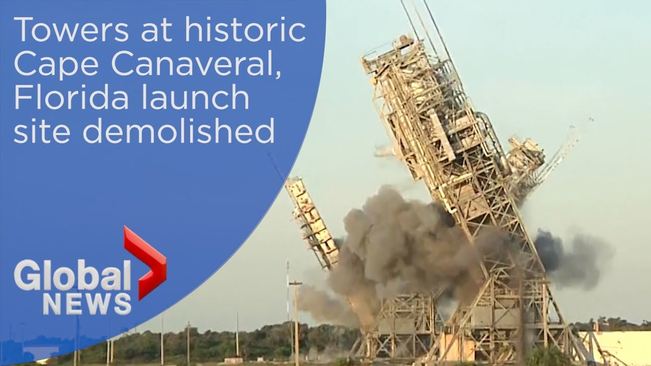 Towers demolished at Cape Canaveral's Launch Complex 17