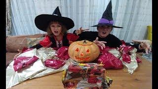 2 Cadıya Balkabağındaki onlarca sürpriz, En güzel ilginç sürprizler kimde, Hallowen party