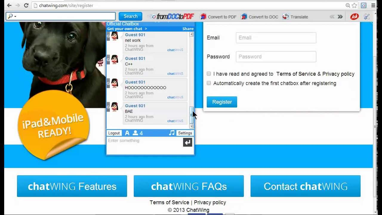 Chatrooms for free