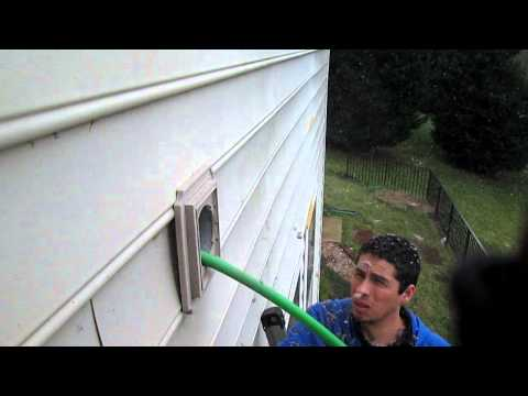How to proper clean a dryer vent...