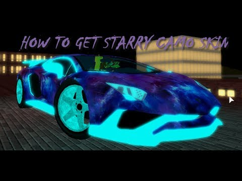 How To Get Starry Camo Skin Vehicle Simulator Youtube