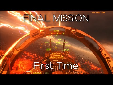 Beating the game for the FIRST TIME | Project Wingman | HARD difficulty | First Person |