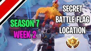 Fortnite Season 7 Week 2 Secret Battle Flag / Battlestar Location (Snowfall Challenges)