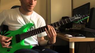 Djent/Arabic metal guitar playthrough/Monorithm:mask of Anubis