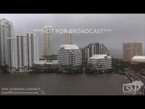 09-10-2017 Miami, FL - Storm Surge Taking Over Highway