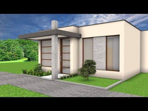 Plano De Casa De Dos Pisos Peque A Fachada E Interior