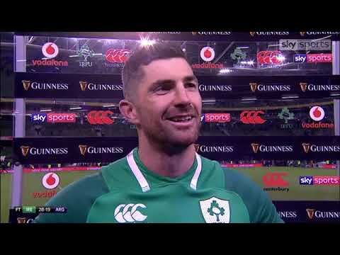 Rob Kearney gives his reaction following Ireland's win over Argentina.