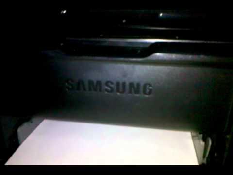 samsung ml 1665 laser printer printing a document youtube. Black Bedroom Furniture Sets. Home Design Ideas