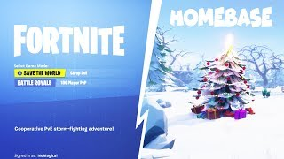 Nevando en su base de la temporada 7 estafador consigue estafado en Fortnite Salvar al mundo PVE