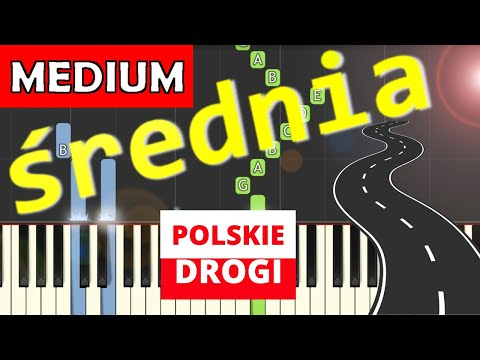 🎹 Polskie drogi (A. Kurylewicz) - Piano Tutorial (średnia wersja) 🎹