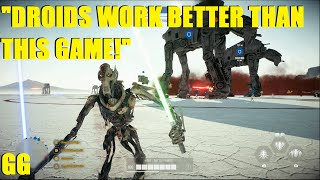 Star Wars Battlefront 2 - General Grievous has a bad day XD | He hates 2 things, droids and glitches