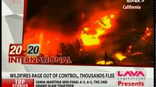 California  Wildfires Rage, Emergency Declared