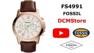FS4991 Fossil Grant Chronograph Dial Brown Leather ...... DCMStore