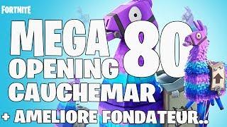 """FORTNITE SAUVER THE WORLD """"OUVERTURE 80 LAMA -30 LAMA CAUCHEMAR! LIVE """" 1/2 PS4 EN"""