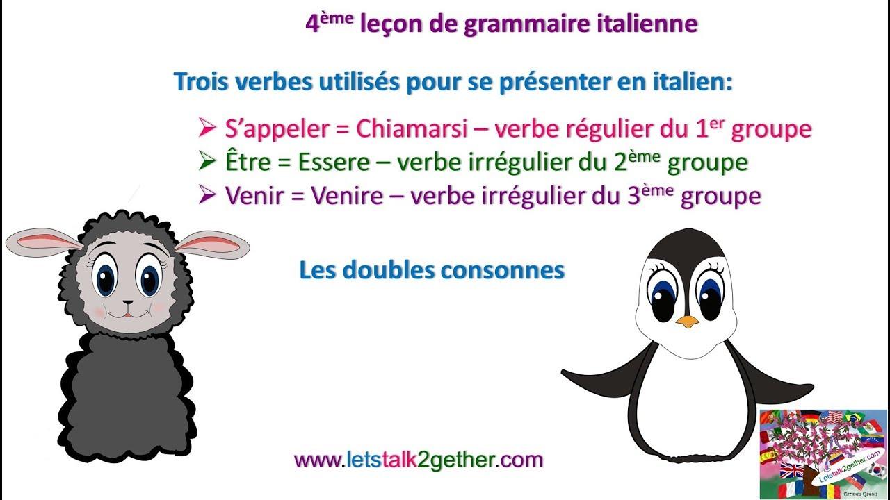 4eme Grammaire It Les Verbes S Appeler Etre Venir Les Doubles Consonnes Youtube