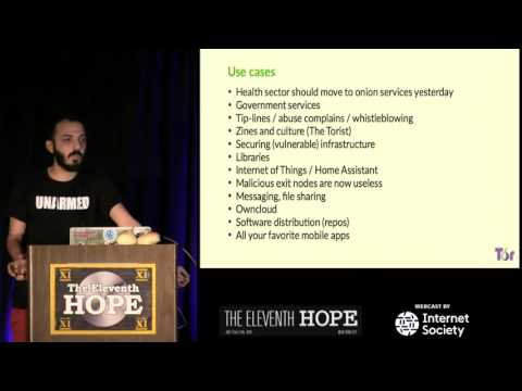 The Eleventh HOPE (2016): Understanding Tor Onion Services and Their Use Cases