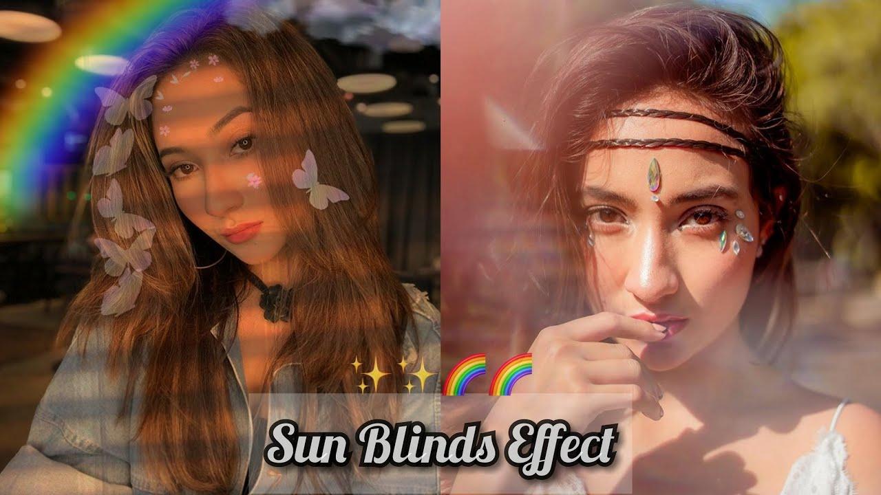 Lagi Viral Cara Edit Foto Sun Blinds Aesthetic Dengan ...