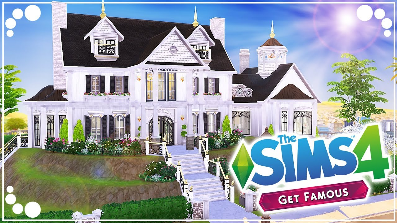EXTRAVAGANT FAMILY HOME 🌟 (GET FAMOUS) | The Sims 4 | Speed Build