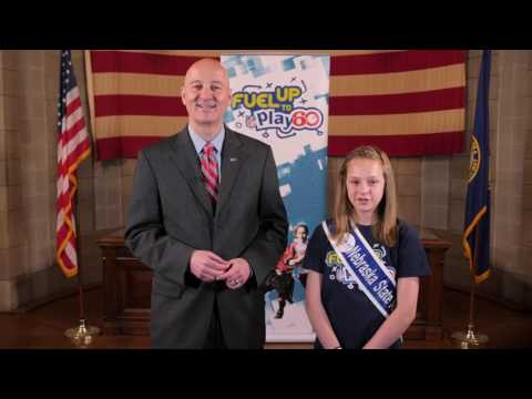 Nebraska Governor and Fuel Up to Play 60 State Ambassador Congratulate Nebraska Schools